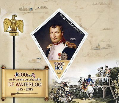Madagascar 2015 MNH Battle of Waterloo 200th Anniv 1v S/S Napoleon Stamps