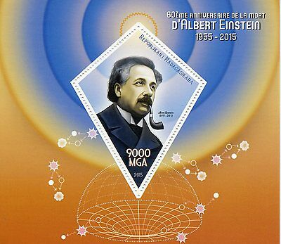 Madagascar 2015 MNH Albert Einstein 60th Memorial 1v S/S Science Physics Stamps