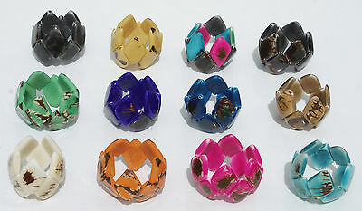 Lot 7 Handmade Bracelets Tagua Nut Ecologic Jewelry Wholesale Products Ecuador