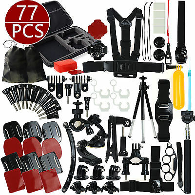 Accessories Set Kit for GoPro Hero 2 3 3+ 4 5 SJCAM Head Chest Strap Pole