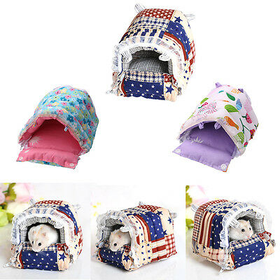 Small Pet Toy Warm House Cage Cotton Bed For Rabbit Rat Hamster Parrot Squirrel