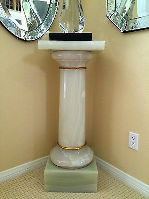 Antique Onyx Pedestal Gilt Bronze French? Continental Circa 1800 HEAVY
