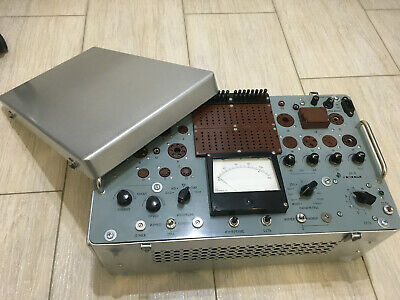 KALIBR L3-3 RUSSIAN MADE VINTAGE VACUUM TUBE TESTER!  Stock with extras Tested!