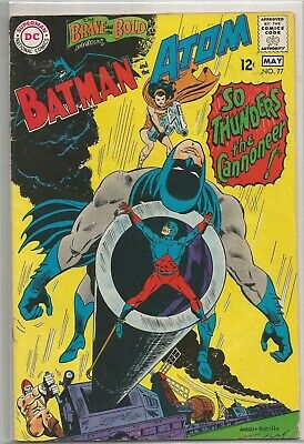 The Brave & The Bold #77 DC (1968) Silver Age Comic Book FN+/VF- The Atom App.