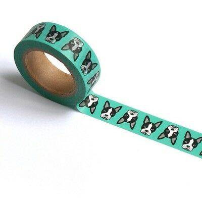 Washi Tape Boston Terrier Aqua By Smarty Pants Paper Co 15Mm X 10Mtr Planner Art