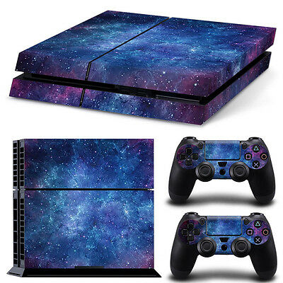 Blue Sky Skin Sticker Set for PS4 Playstation4 Console Controller