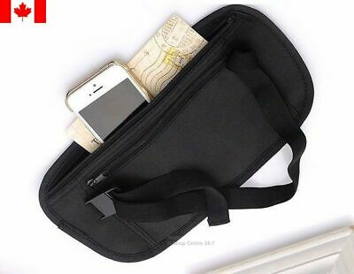 1pcs Money Waist Belt Bag Worldwide Travel Pouch Zippered Waist Compact Security