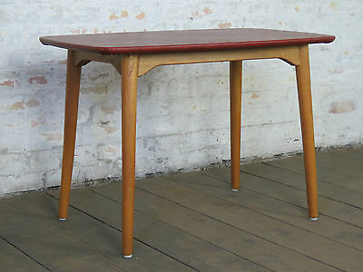 Mid Century 50s 60s Danish Modern Sofa Coffee Couch Side Table Retro Vintage M