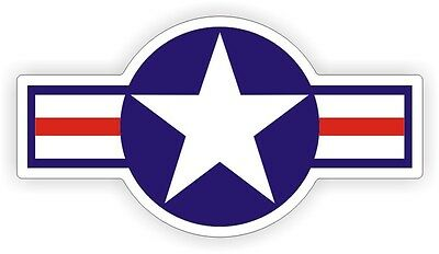 Air Force Hard Hat Sticker / Helmet Decal Label USA United States Military Star