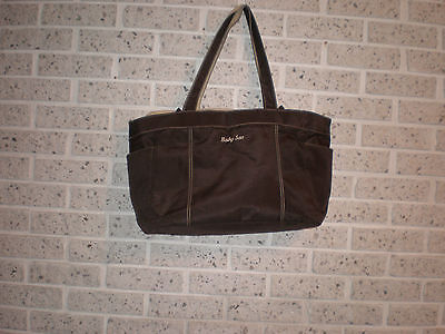 Baby Sac Nice Diaper bag 20x12x7 Brown/tan Many compartments