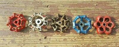 Vtg Water Valve Handles Knobs Steampunk  Industrial Altered Art Unique Lot of 5