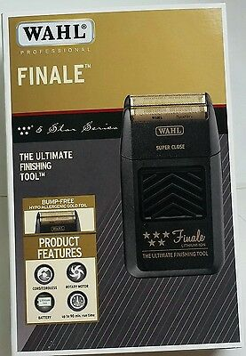 WAHL PROFESSIONAL FIVE STAR FINALE SHAVER-BUMP FREE SHAVING BLACK PRO Item# 8164