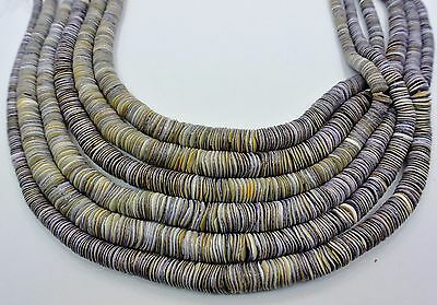 Graduated Wampum Shell Heishi Beads (16 Inches Strand)
