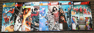 DC Titans Hunt # 1-8 COMPLETE SET - Abnett Segovia - Rebirth Lead In! All 1sts