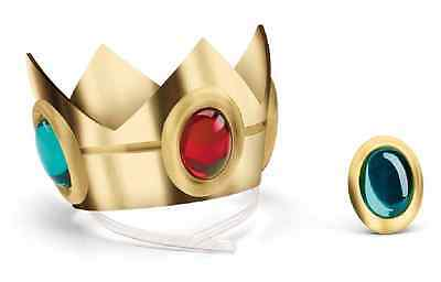 Princess Peach Crown & Amulet Super Mario Nintendo Halloween Costume Accessory