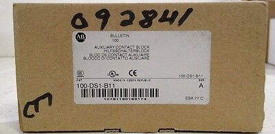 Allen Bradley 100-DS1-B11H A Auxiliary Contact Side mounted 1 N.O. 1 N.C. NEW