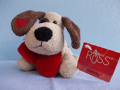 """Soft toy little dog Russ Berrie """"Randy"""" - 15 cm with tag"""