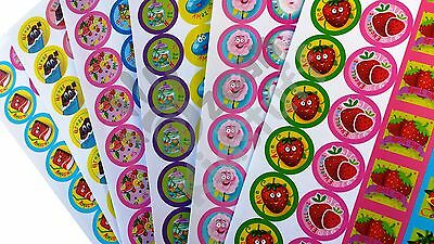 84-168 Scratch and Sniff Stickers Kids Party Favour Reward Praise Chocolate Cola