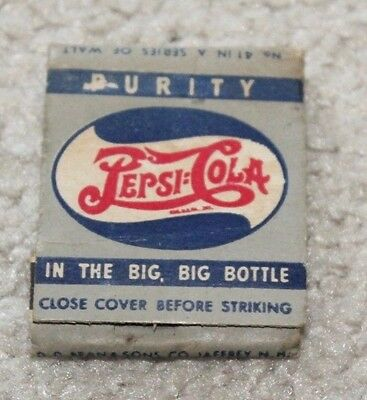 Vintage WWII Pepsi Cola Matchbook 42nd Bombardment Group 75th Red White & Blue
