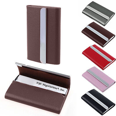 Luxury unisex leather id credit card business cards holder case luxury unisex leather id credit card business cards holder case wallet hq reheart Image collections