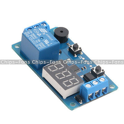 12V LED Display Timer Relay Programmable Module Delay Switch Car Buzzer Board