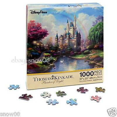 CINDERELLA CASTLE  Puzzle by Thomas Kinkade Walt Disney World NEW 1000 PIECES