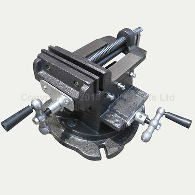 """402283 3"""" Mechanical Swivel Base Cross 4 Way Milling Bench Drill Vice Clamp"""