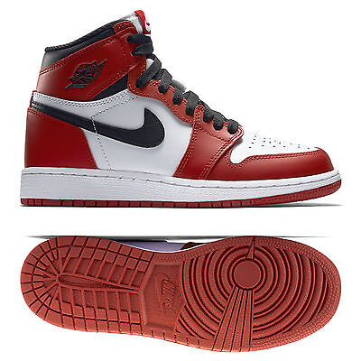 Nike Air Jordan 1 Retro High OG BG Chicago 575441-101 White/Black/Red Kids Shoes