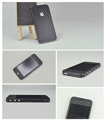 Carbon Fibre Full Body Skin For Apple iPhone 5/5s in Black, White or Grey