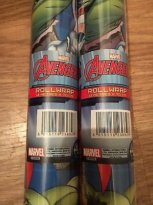 4 Meter Marvel Avengers Super Hero  Wrapping Paper Iron Man Thor GiftWrap Roll