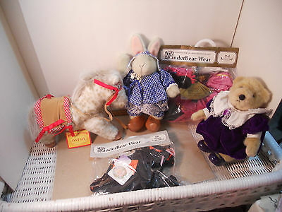 Lot Of Muffy Vanderbear Hoppy, Oatsie And Clothes