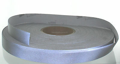 """3M 8910 REFLECTIVE MATERIAL Fabric trim tape sew-on 1"""" wide - 1 Yard Length"""