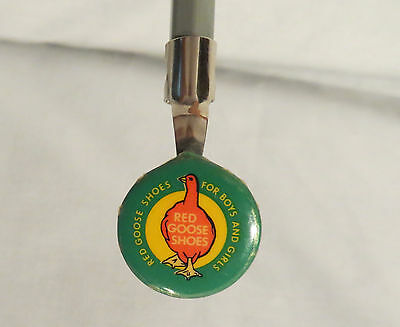 Vintage Red Goose Shoes Advertising Celluloid Tin Litho Pencil Topper/Clip