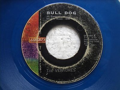 The Ventures - Bull Dog/ No tresspassing - Super rare BLUE VINYL 45  PHILIPPINES
