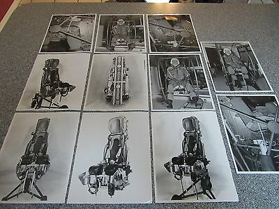 Lot Of 11 Vintage Martin Baker Ejection Seat 8X10 Bw Photos 1952 Nice Shape