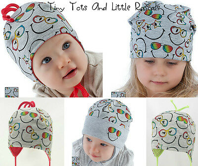 Infant Girls Toddlers Spring Autumn Cotton Elastic Beanie Hat 9 mths - 4 years