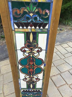 Great Art Deco Decorative Stained Glass Window