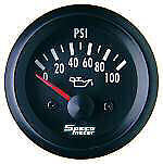 "Speco Electrical Oil Pressure Gauge 2"" 0-100 PSI Street Series 523-16"