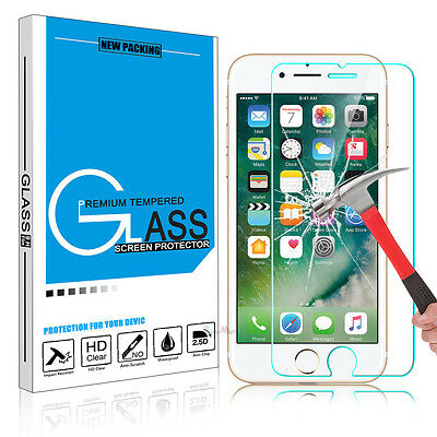 For iPhone 7 / 7 Plus Phone Screen Protector 9H Premium Real Tempered Glass Film