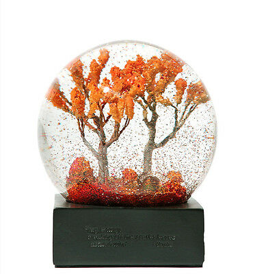 Four Seasons Crystal Ball with Base Glass Snow Globe