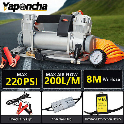 Yaponcha 12V AIR COMPRESSOR tools 200PSI 4WD CAR TYRE INFLATOR PORTABLE KIT