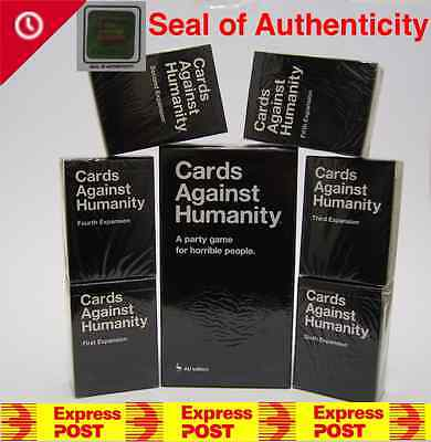 Cards Against Humanity Game AU Australian Version Main Base + 123456 Expansion