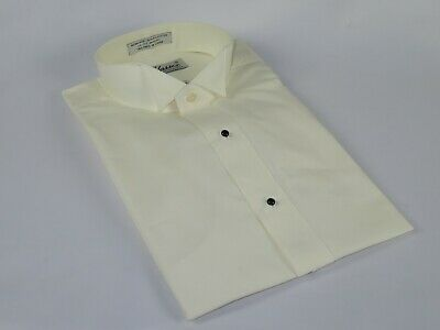 Men's Tuxedo shirt By CLASSIX Wing Tip Formal Plain Front After Six M14 Ivory