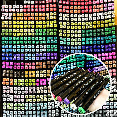 40/60/80/168 Colors Tinge Quality Art Sketch Twin Marker Pens EXPRESS SHIP A1691