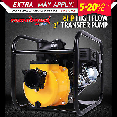 New 8Hp 3 Inch Petrol High Pressure Water Transfer Pump Fire Fighting Irrigation