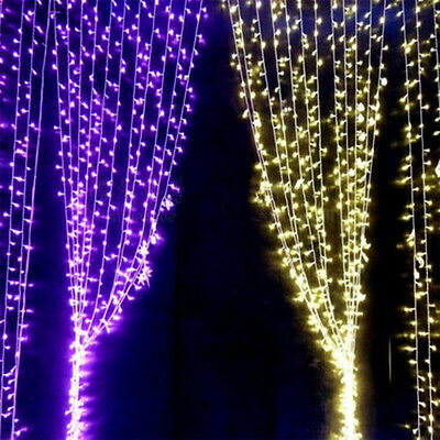 3Mx3M 300 LED Fairy Light Curtain String Xmas Wedding Home Party Outdoor/Indoor