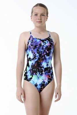 Girls Kini Back Infinity One Piece Chlorine Resistant Swimsuit