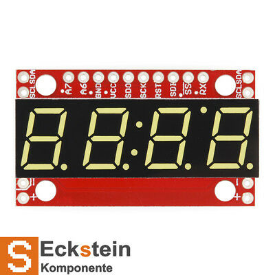 SparkFun 7-Segment Serial Display - Yellow - with ATMega328 MCU COM-11443