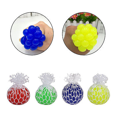 Mesh Grape Hand Ball Anti Stress Face Reliever Autism Mood Squeeze Relief Toy AU