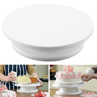 11'' 28cm Cake Making Turntable Rotating Platform Stand Display Baking Decor DIY